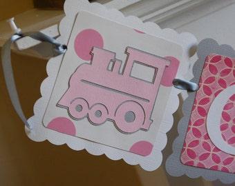 Choo Choo Banner, All Aboard, Train Theme, Train Birthday, Train Baby Shower, Girl Train Birthday