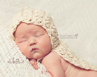 Crochet PATTERN - Crochet Hooded Cape Pattern - Crochet Patterns Baby - Includes 3 Sizes Newborn to 12 Months - PDF 339 - Photo Prop Pattern