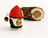 Felt Egg Ornaments. Fairy Egg House. Wool Egg Toy. Needle Felted Wool Egg Ornament. Made to order.