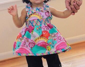 Baby Sabrina's Ruffled Top and Dress PDF Pattern sizes newborn to 18/24m