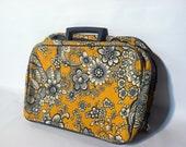 Vintage Floral Suitcase Case Retro Travel Wet Bag Toiletry Purse Clutch Luggage Suitcase Purse
