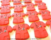 Platter Size Nurse or Doctor Scrub Top Decorated Sugar Cookies (#2317)