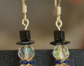 Beaded Snowman Holiday Earrings