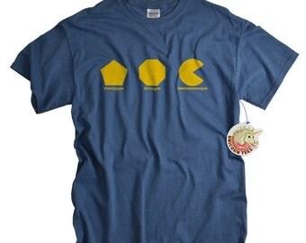 Geek Shirt for Men and Women geekery tshirt Omnomnomagon geekery math videogame t shirt om nom omnom nom t shirt geeky tshirt gift