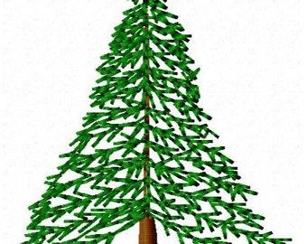 Hemlock Tree Embroidery Design - Instant Download