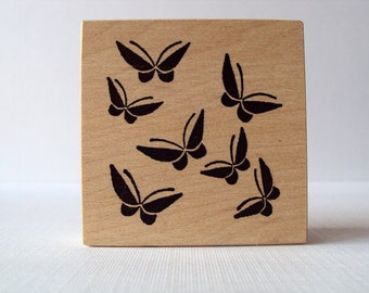 Butterfly Family Mounted Rubber Stamping Block DIY cards, scrapbooking, tags, Greeting Cards, and Scrapbooking by Hanko Designs