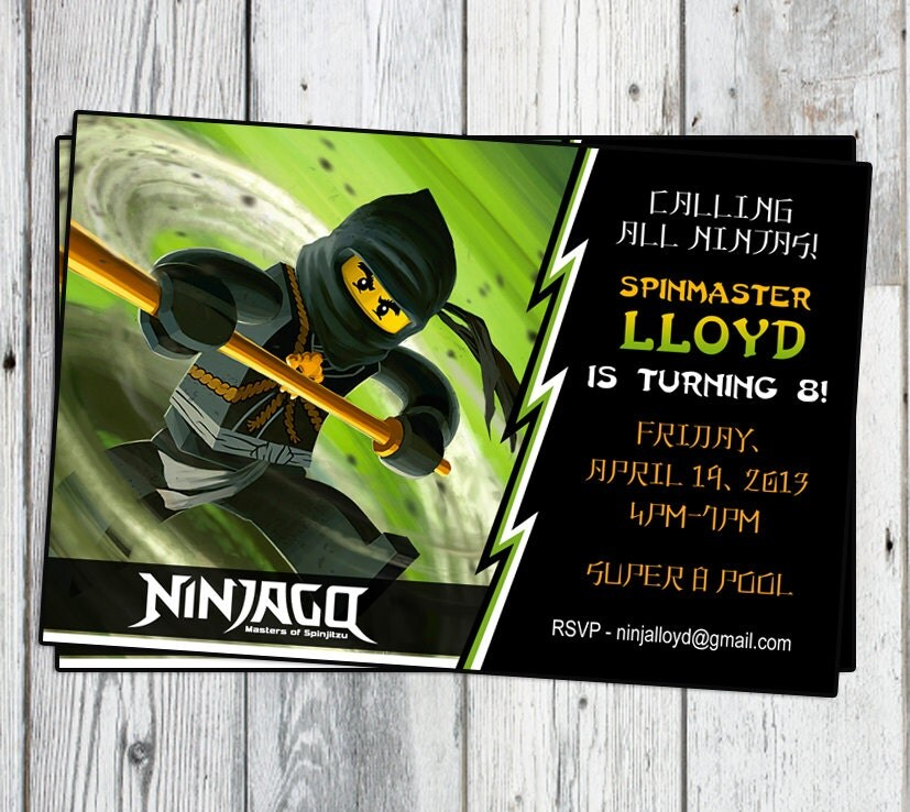 Ninjago Geburtstag Party Einladung: Druckbare Junge oder