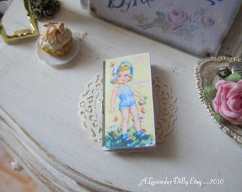 Paper Doll Book for Dollhouse