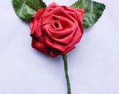 Red Rose Buttonniere For Wedding or Special Occasions