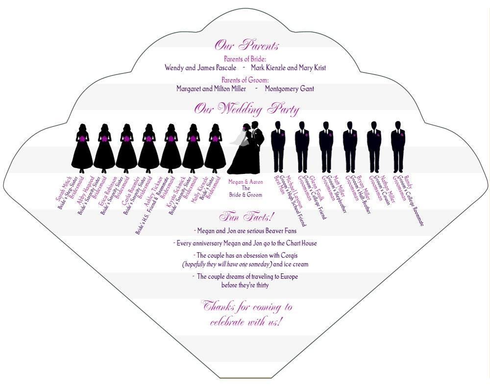 Custom wedding party silhouette drawing Digital file plus 25