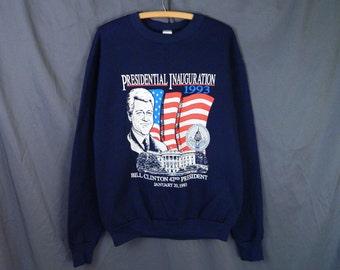 Deadstock 1993 Bill Clinton 42nd Presidential Inauguration Sweatshirt Size L