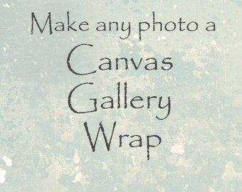 Canvas Gallery Wrap - Choose Any Photo - Ready to Hang -  FREE US SHIPPING