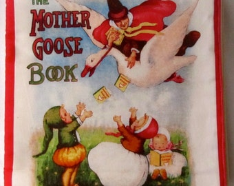 Mother Goose Book Soft Cloth Book Sing along Rhymes for babies and toddlers with Bright colors and pictures.