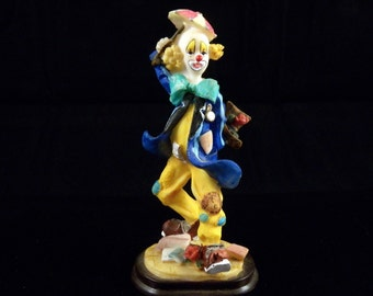 Vintage Clown Figurine - Collectible Clown Figurine - Vintage Home Decor - Childs Room Decor - Circus Clown Figurine - Colorful Clown