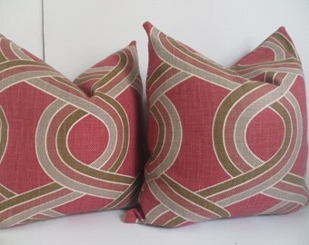 Fushia PillowCovers - Silver Pillow Covers- Cocoa Pillows - Pillow covers - Pillows- Fushia Pillows- Accent Pillows