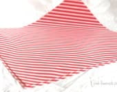 25 Red Diagonal Stripe WAX PAPER sheets-Pink Lemonade party shop EXCLUSIVE-basket liners-food safe