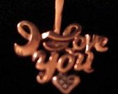 14 K Yellow Gold Chain & 10k Love Heart Pendant With Diamond