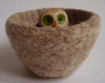 wee felted wool bowl container eco friendly desktop storage caramel and spice ring holder