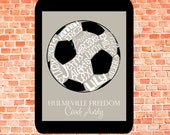 ELECTRONIC COPY Soccer Ball... Typography Art
