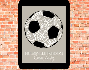 Soccer Ball... Typography Art