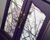 Purple In The Woods Musical Upcycled Jewelry Box