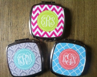 Personalized Monogrammed Cosmetic Mirror- Design Your Own