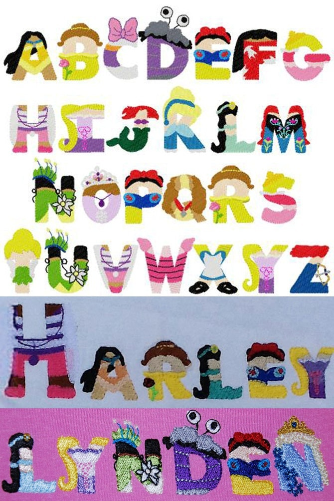 disney princess letters princess embroidery letters disney inspired font embroidery 351