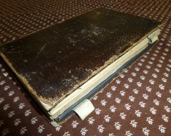 Handwritten Antique 1870s Diary Record Book German