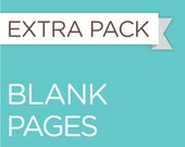 Blank White Pages - 5 SHEETS / 10 PAGES - for the Baby Steps Book