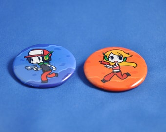 CAVE STORY Quote and Curly Buttons!