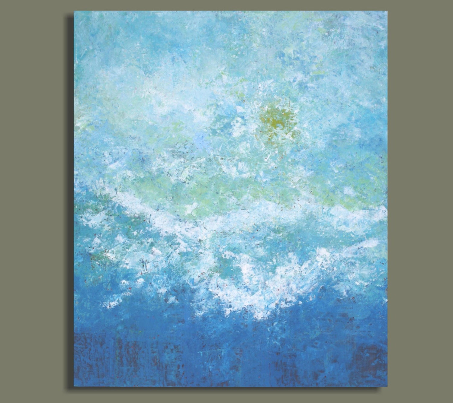 OCEAN painting large abstract painting abstract ocean aqua