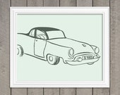 Coupe Art Print - Vintage Artwork - Wall Art - Modern Art Print - Coupe, Car, Men Gifts - 80