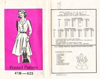 Vintage Sewing Pattern - Anne Adams Pattern 4736 Size 12  Mail Order - OOP
