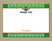"""Personalized Football Thank You Note - 5x7"""" Flat Card - Personalized DIY Printable Digital File"""