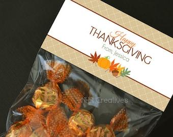 Happy Thanksgiving Treat Bag Topper - DIY Printable Digital File