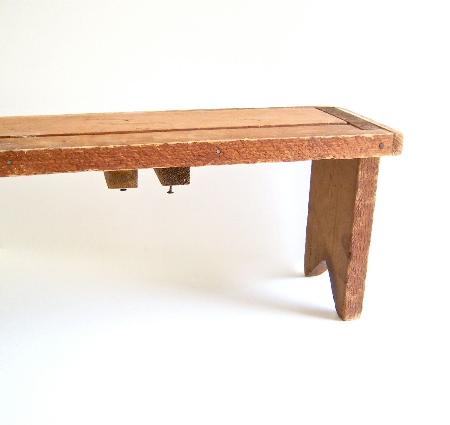 Primitive Wooden Bench Small Step Stool Child Size
