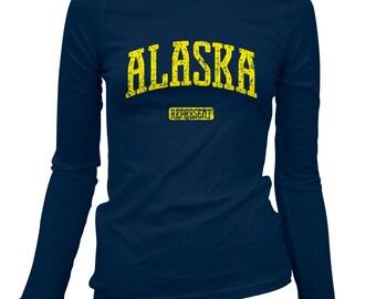Women's Alaska Represent Long Sleeve Tee - LS Ladies T-shirt - S M L XL 2x - Alaska T-shirt - 2 Colors