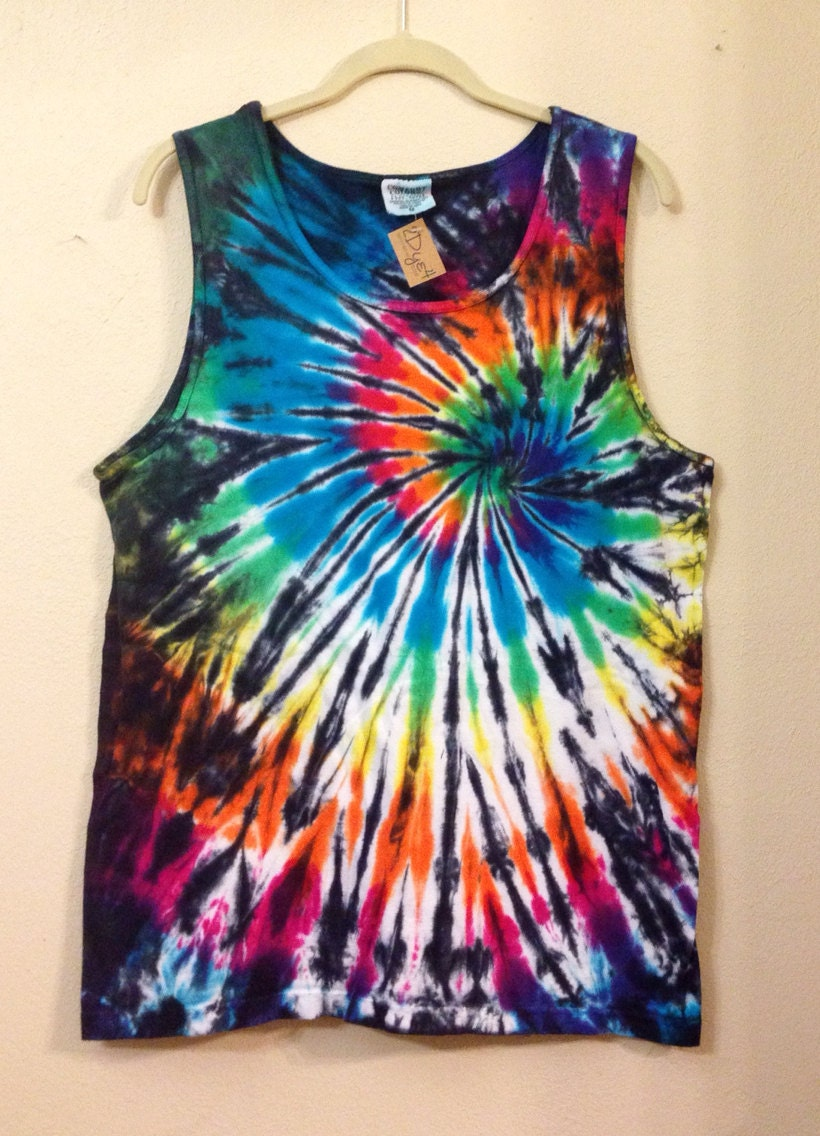 s tie dye tank top by 2dye4designs on etsy