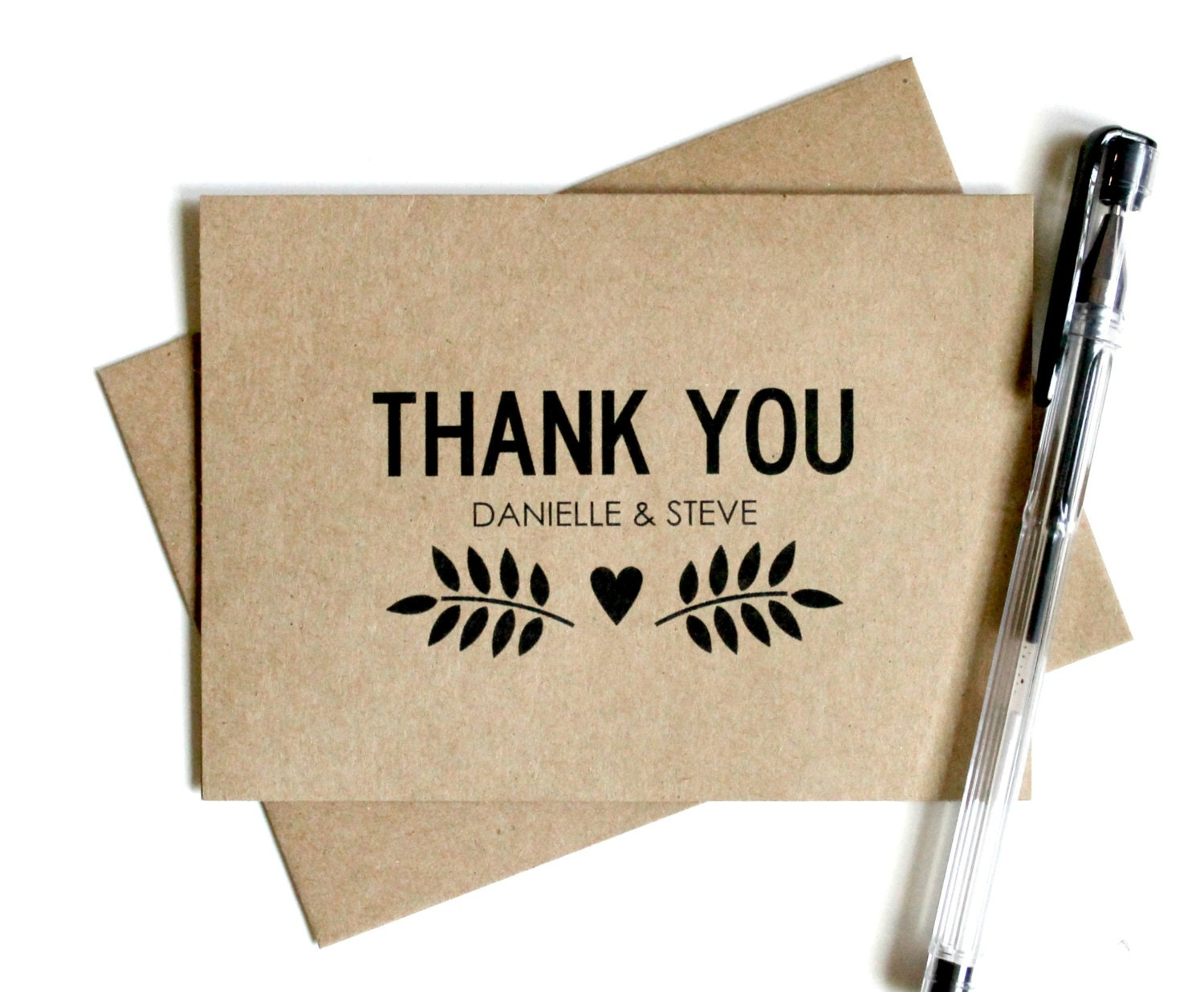 custom wedding thank you cards set of 25 thank you card