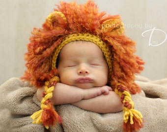 Lion Mane Bonnet CROCHET PATTERN instant download hat beanie
