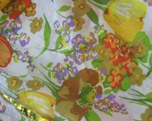 Mod Pillowcase set by Canon Colorful oversize tulips 70s Yellow Gold Orange Green Purple