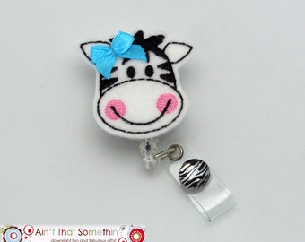 Zebra Retractable Badge Reel - Zebra Badge Clips - Fun Badge Reels - Cute ID Holders - Badge Reel Gifts - Designer Badge Reels - Unique IDs