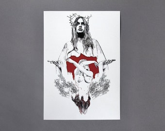 Blood On Linda, A3 Art Archive Giclee Print
