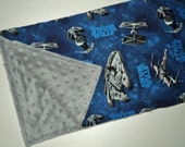 "Star Wars Baby Blanket - Security Blanket 19""X23""- Baby Gift - Lovey - Star Wars Baby Boy Or Baby Girl Blanket - Baby Shower - Made To Order"
