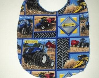 Tractor Bib - Baby Bib - Baby Gift - Farmer Bib - Toddler Bib - Newborn Bib - Infant Bib - New Holland Bib -Baby Shower Gift - Made To Order