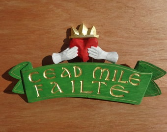 Cead Mile Failte on Pennant Sign
