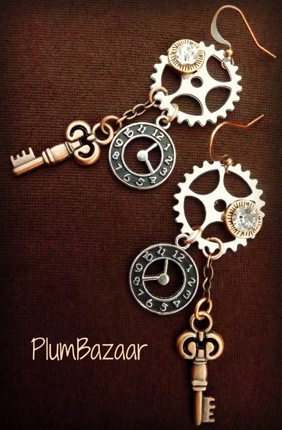 jewelry making kit steampunk style earrings instructions and