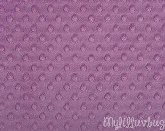 Minky fabric by the yard- mauve minky dimple fabric- minky dot fabric