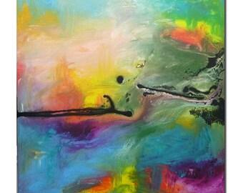 Fresco ........original acrylic painting abstract art