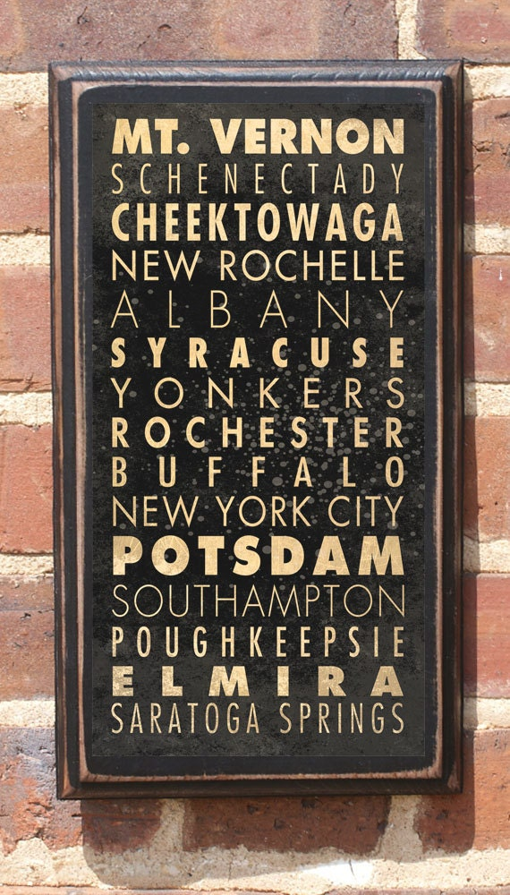 New York Ny Subway Scroll Wall Art Sign Plaque Gift Present